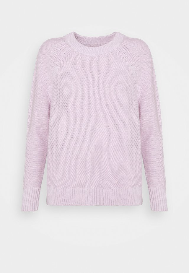 TEXTURED CREW  - Sweter - lilac
