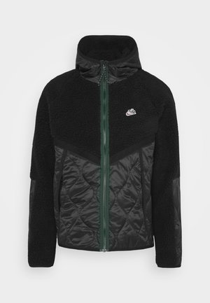 WINTER - Winter jacket - black/pro green