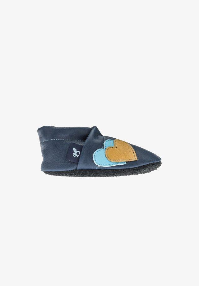 Slippers - blau/hellblau/gelb