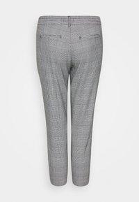 Object Petite - OBJLISA SLIM PANT - Trousers - gardenia/black - 1