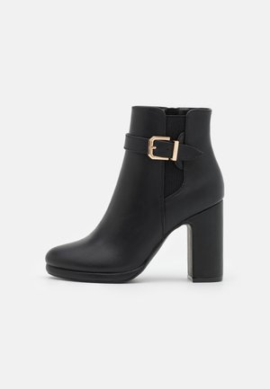 High Heel Stiefelette - black
