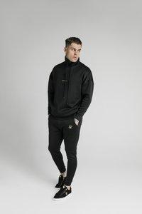 SIKSILK - ELEMENT QUARTER ZIP HOODIE - Felpa - black/gold - 1