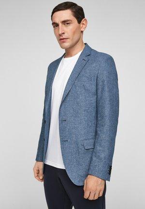 Blazer jacket - dark blue melange