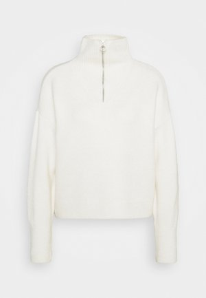ZIP JUMPER - Strikkegenser - oatmeal