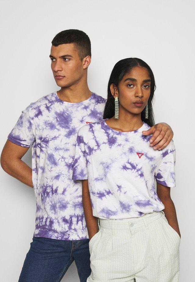 T-shirt med print - lilac