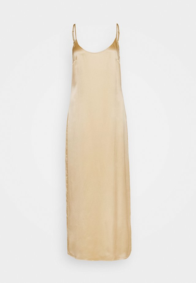 LONG SLIPDRESS - Nightie - beige stone