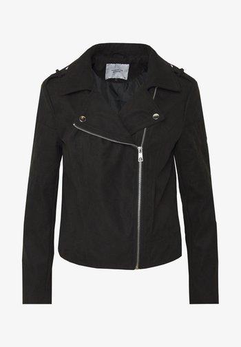 JDYPEACH BIKER - Faux leather jacket - black
