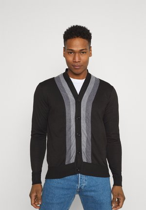 CHALMERS - Gilet - jet black/dark grey marl/clement grey