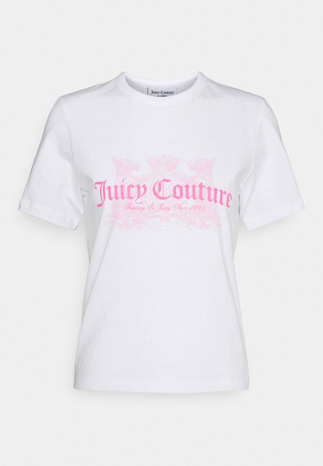 DOG  - T-shirt print - white