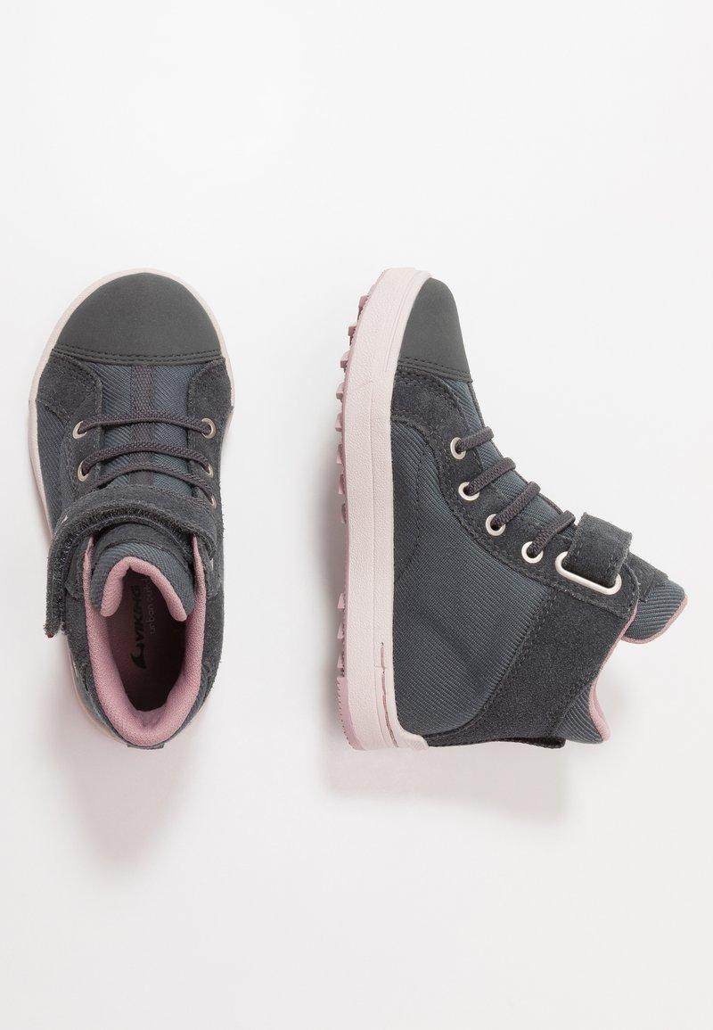 Viking - LEAH MID GTX - Hiking shoes - dark grey/dusty pink