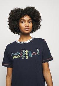 M Missoni - Print T-shirt - dark blue - 3