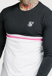 SIKSILK - RETRO STRIPE TEE - Top sdlouhým rukávem - grey/pink/white - 4