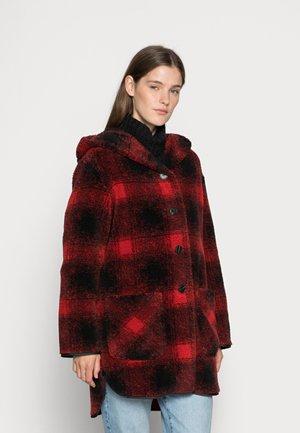 Classic coat - rot/schwarz