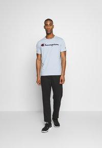 Champion Rochester - ROCHESTER CREWNECK  - Print T-shirt - light blue - 1