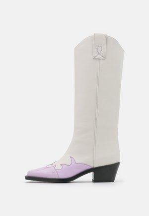 STIVALE DONNA BOOT - Cowboy-/Bikerlaarzen - lilac/white