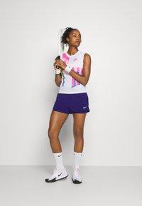 Nike Performance - SLAM TANK  - Sports shirt - white/hot lime/sapphire/pink foil - 1