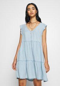 Superdry - TINSLEY TIERED DRESS - Denim dress - indigo light - 0