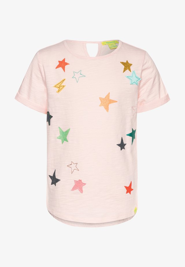 CLUSTERED STAR TEE - Print T-shirt - peony pink