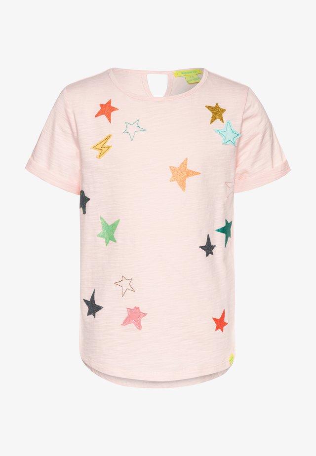 CLUSTERED STAR TEE - T-shirt z nadrukiem - peony pink