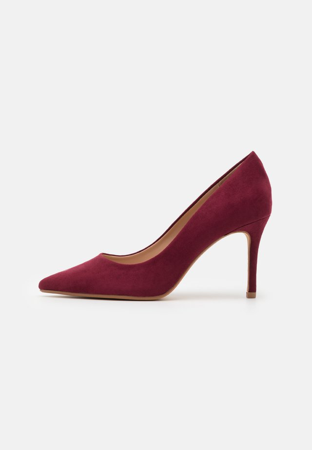 WIDE FIT DELE POINT STILETTO - Escarpins - oxblood