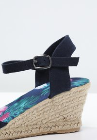 Anna Field - Wedge sandals - navy - 6