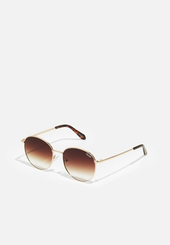 NEW ROUND - Sunglasses - gold-coloured/brown fade