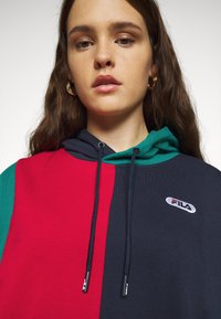 Fila Plus - BAYOU BLOCKED HOODY - Hoodie - black iris/true red/teal green/aurora - 3