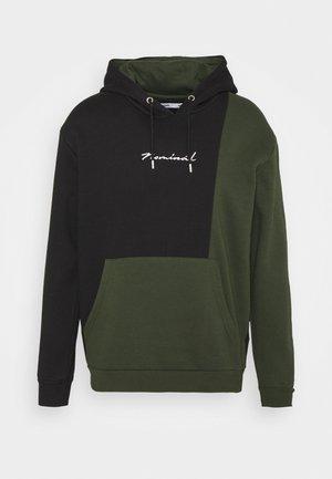 SPLIT HOODIE - Sweatshirt - black