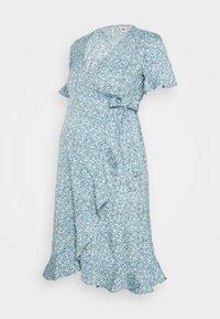 ONLY - OLMOLIVIA WRAP DRESS - Žerzejové šaty - dusk blue - 4
