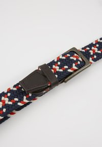 Barbour - FORD BELT - Pásek - red/navy/ecru