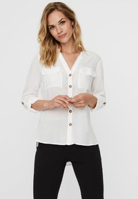 Vero Moda - Button-down blouse - snow white - 0