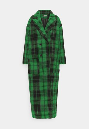 CHECKED OVERSIZED FORMAL COAT - Abrigo - green