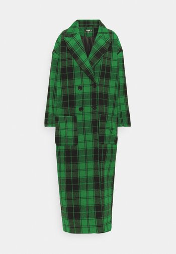 CHECKED OVERSIZED FORMAL COAT