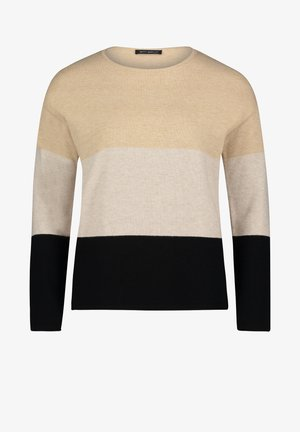 COLOUR BLOCKING - Sweatshirt - black/camel