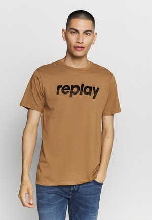 Print T-shirt - dark gold