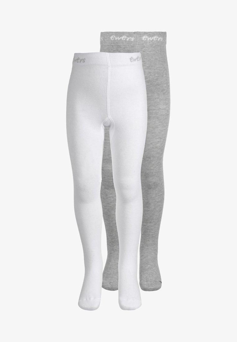 Ewers - 2 PACK - Tights - weiß/grau melange