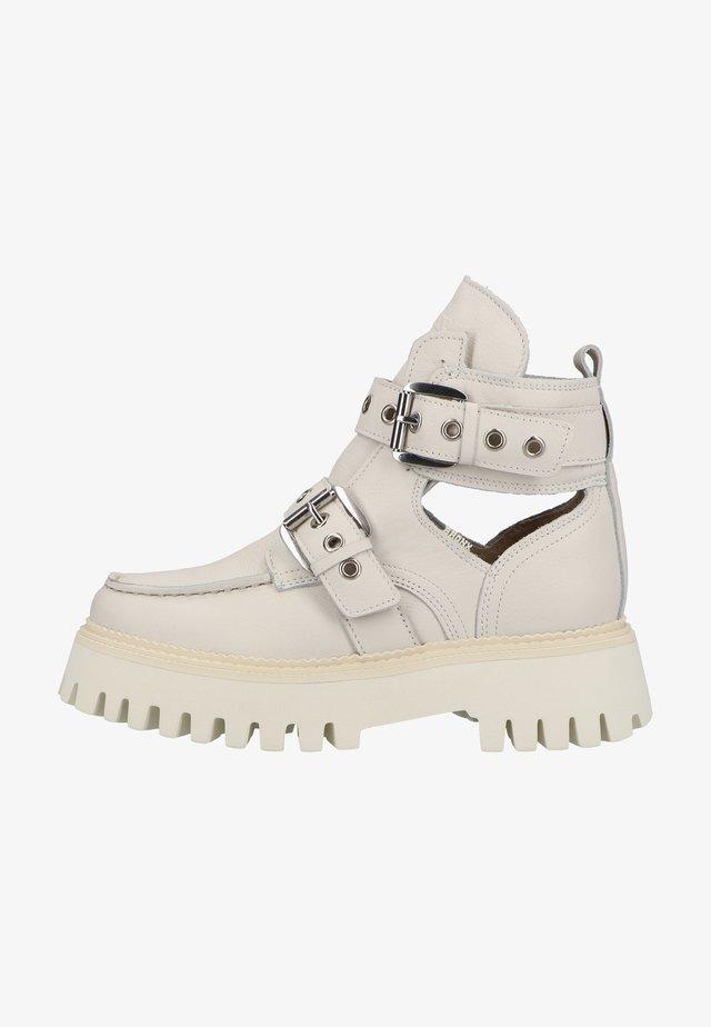 Boots à talons - off white