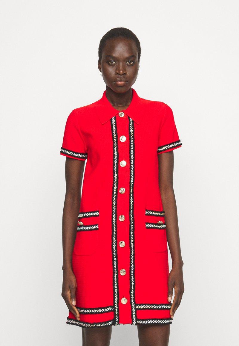 Pinko - FOOTBALL ABITO STRETCH - Shirt dress - red