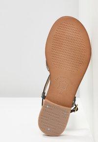 Les Tropéziennes par M Belarbi - MONACO - T-bar sandals - black/gold - 6