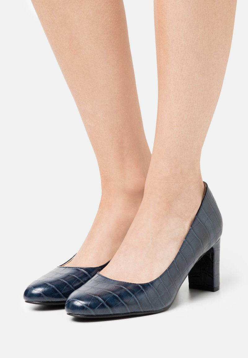 Dorothy Perkins Wide Fit - WIDE FIT DENVER ROUND TOE - Classic heels - navy