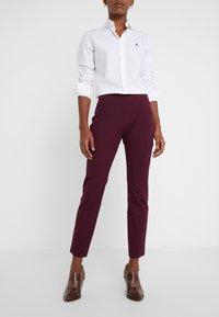 Lauren Ralph Lauren - PANT - Trousers - pinot noir - 0