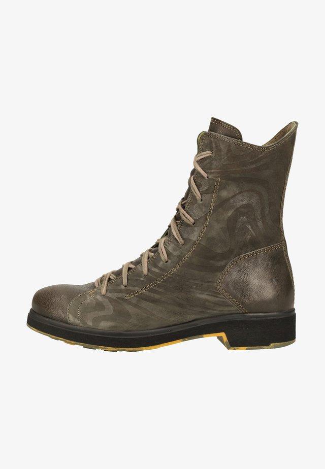 Platform ankle boots - grunge/kombi 2000