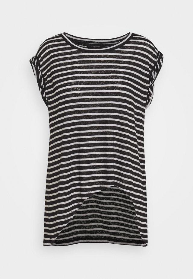 SANZA STRIPE TANK - Print T-shirt - black/chalk
