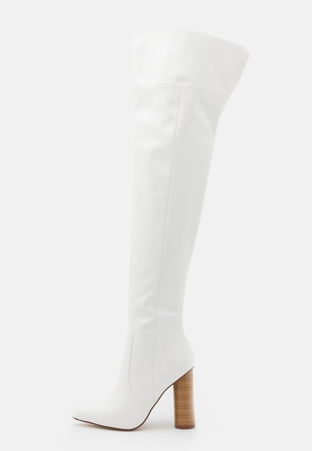 TOFINO - Over-the-knee boots - white