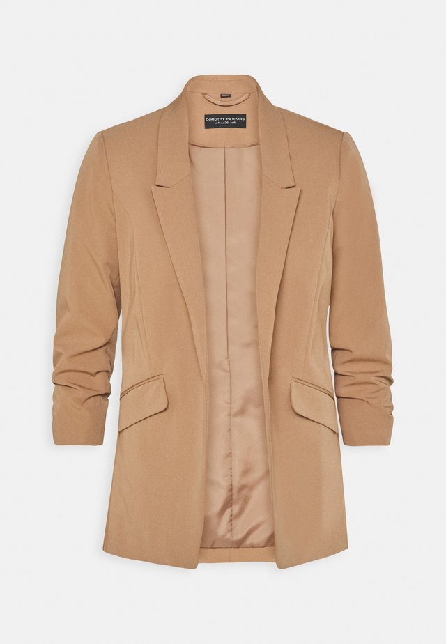 RUCHED SLEEVE JACKET - Blazer - camel