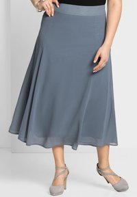 Sheego - A-line skirt - blaugrau - 0