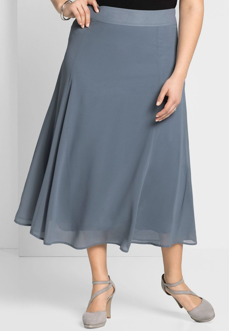 Sheego - A-line skirt - blaugrau
