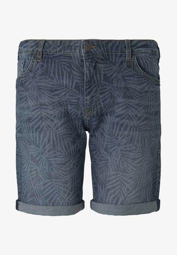 Denim shorts - mid blue laser leave denim
