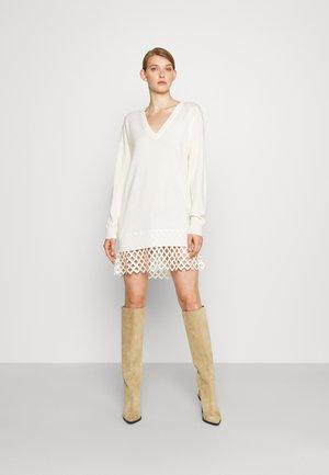 PICA ABITO MISTO CON RETE - Jumper dress - ivory