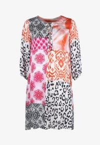 Grace - ORNAMENTS PATCH - Day dress - orange/pink/black - 2